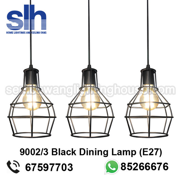 DL1-9002/3 Black Industrial LED Dining Lamp