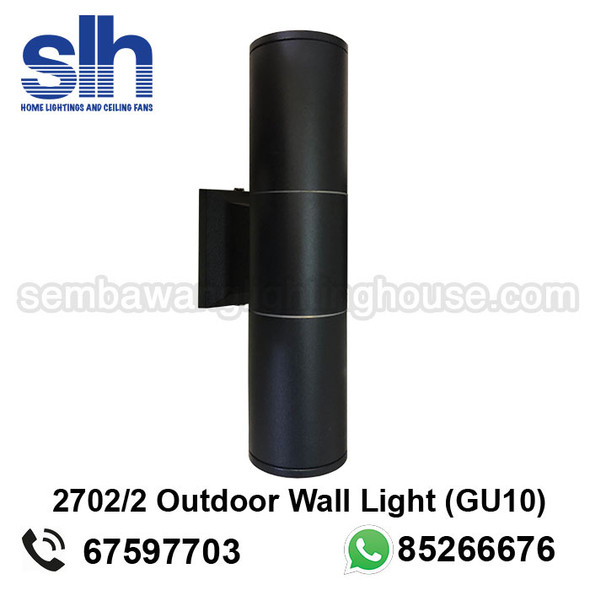 WL1-2701/2 GU10 Black Outdoor Lamp