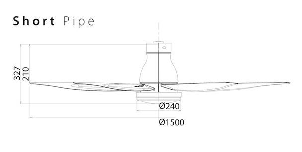 Short pipe dimensions