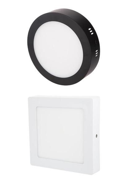 ( 012 018 024 Surface LED Ceiling Light (White/Black)(Round/Square)