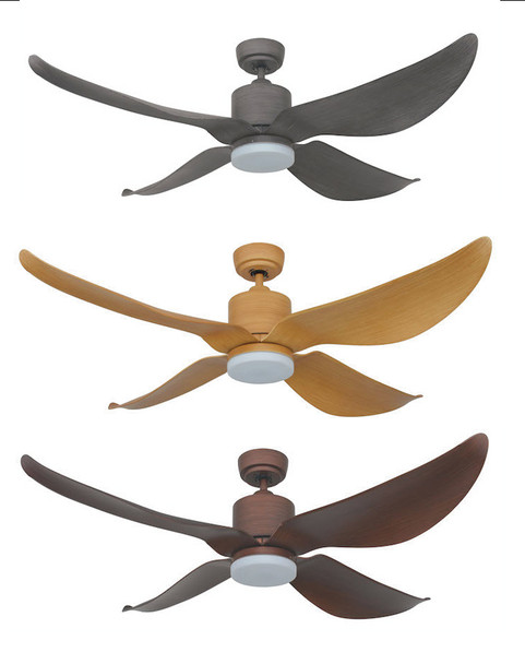 Fanztec TWS1 Ceiling Fan with LED - 4 Blade