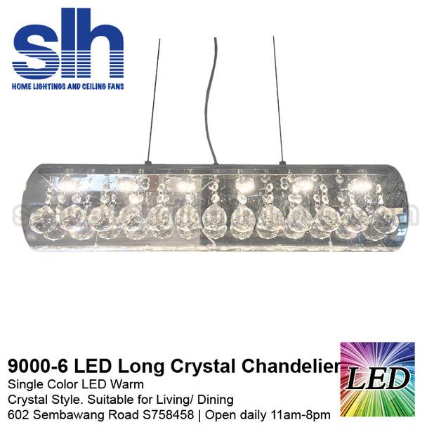 CC6-9000-60cm Long LED Crystal Chandelier