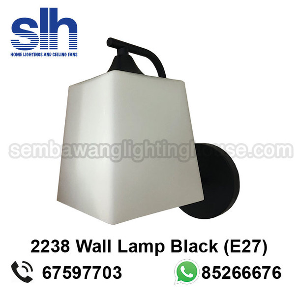 WL7-2238/1 Black Wall Lamp