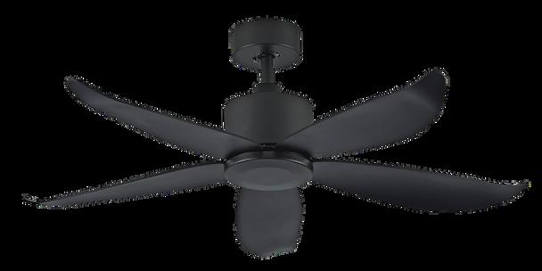 """Crestar Valueair 48""""/55"""" No Light Ceiling Fan - Black"""