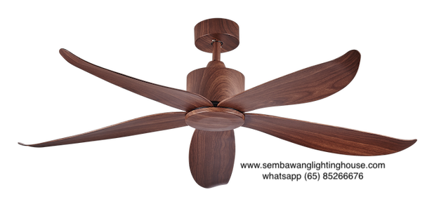 "Crestar Valueair 48""/55"" No Light Ceiling Fan - Wood"
