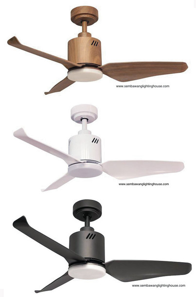 "Kaze Zino 3 blade 42""/48"" DC Ceiling Fan (Dimmable LED)"