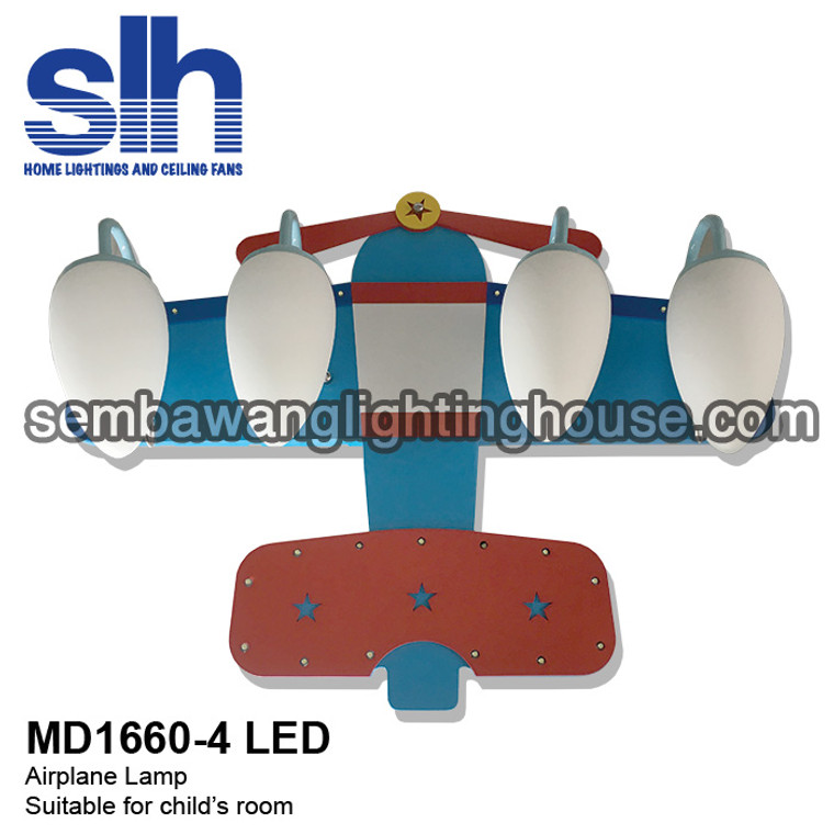 MD1660-4 - LED Airplane Children Lamp