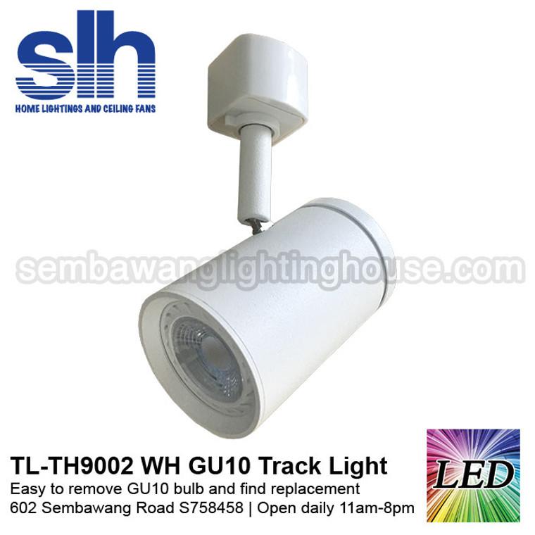 Track Light - TH9002 White (FOC GU10 Bulb)