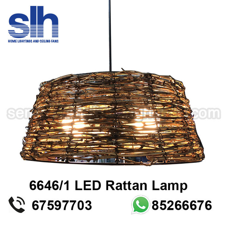 PL1-6646 LED Rattan Pendant Lamp