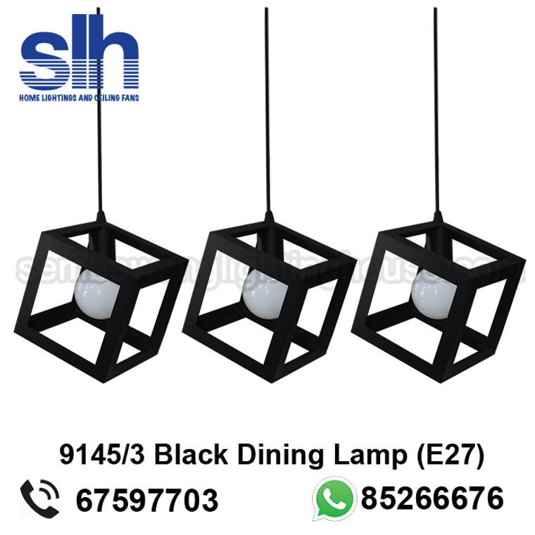 DL1-9145/3 Black Industrial LED Dining Lamp