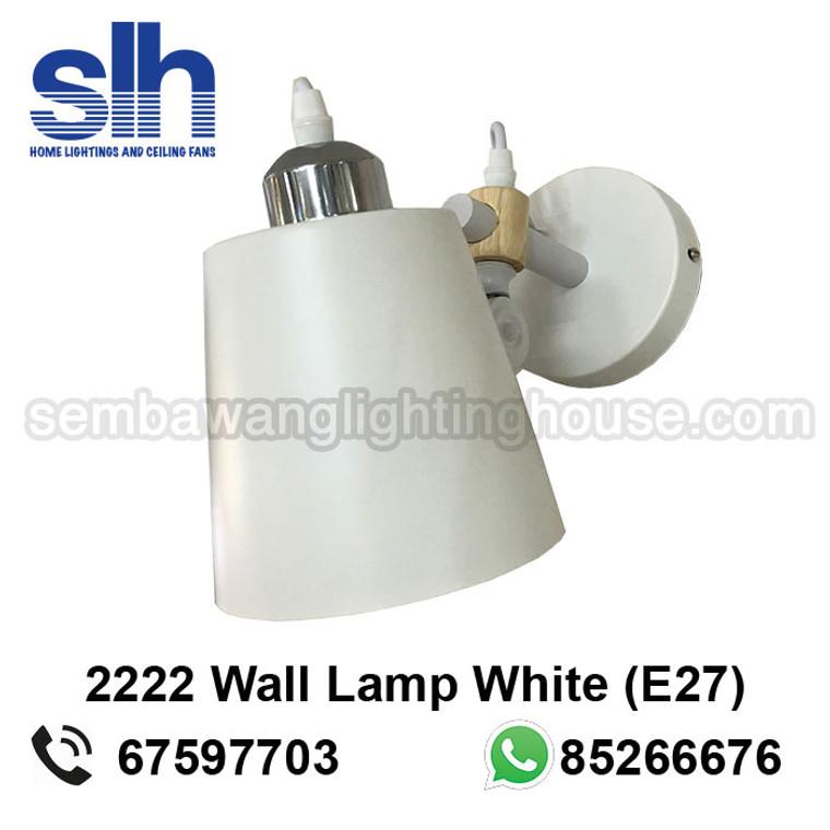 WL7-2222/1 White+Wood Wall Lamp