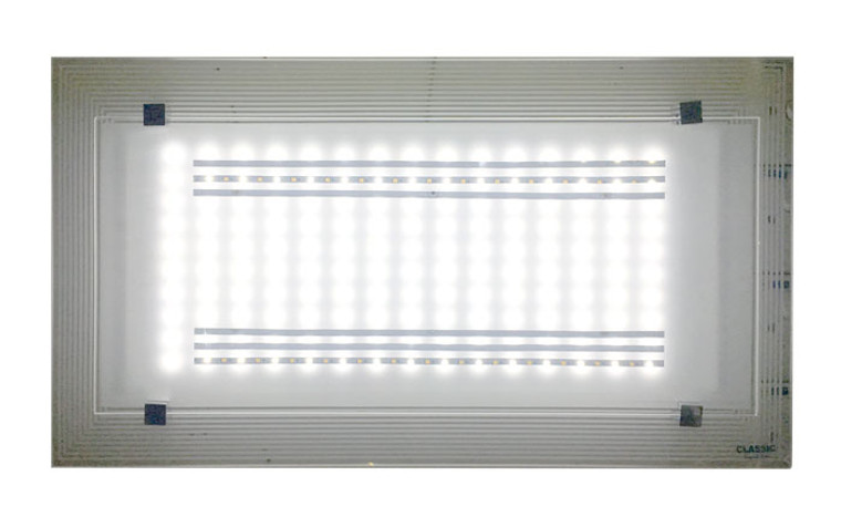 8018 White LED 36W Rectangle Ceiling Lamp