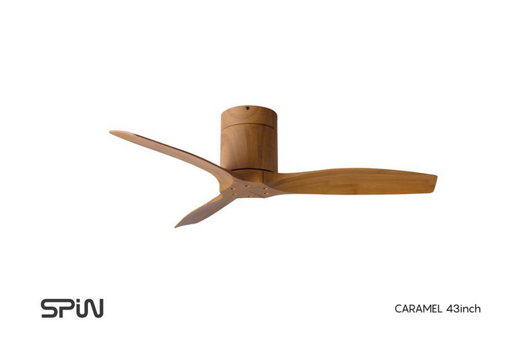 43 inch Spin CARAMEL ceiling fan WITHOUT LIGHT