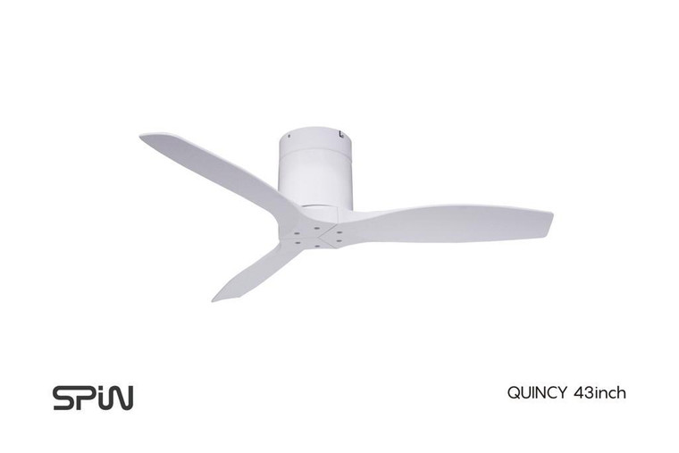 """43"""" Spin Quincy ceiling fan WITHOUT light"""