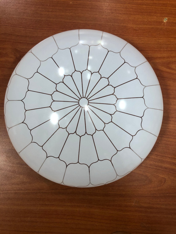 Acrylic ceiling lamp with honeycomb design