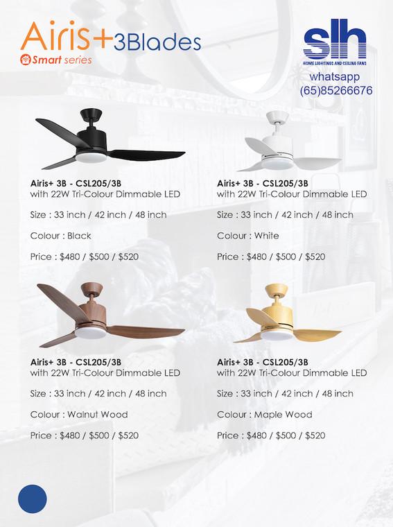 "Crestar Airis+ 33""/42""/48"" Ceiling Fan (Free install)"