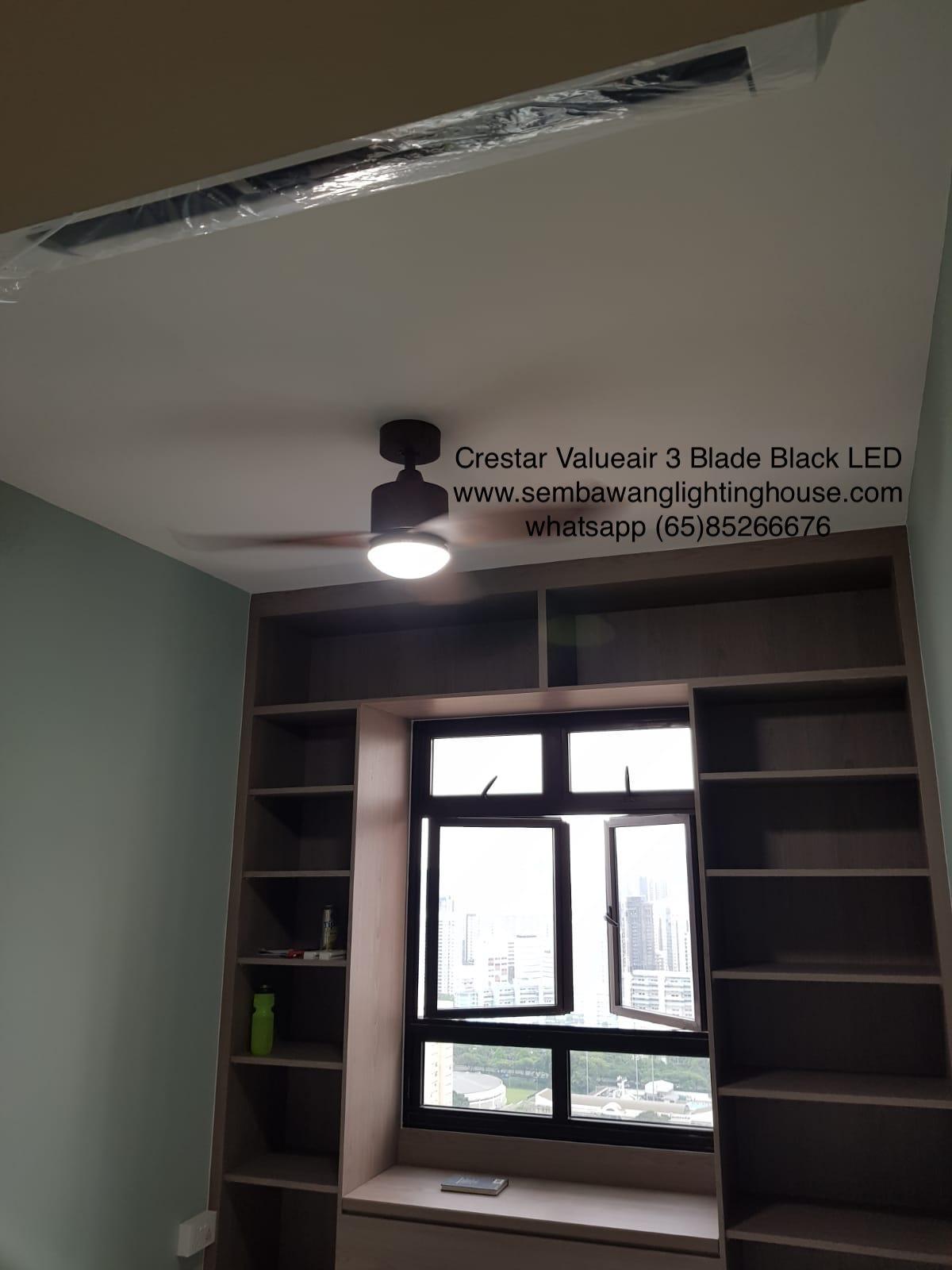 crestar-valueair-3-blade-black-ceiling-fan-sample in hdb bto bedroom