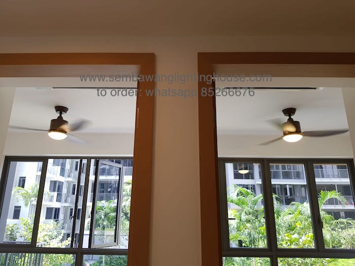 crestar-valueair-3-blade-black-ceiling-fan-sample in condominium bedroom