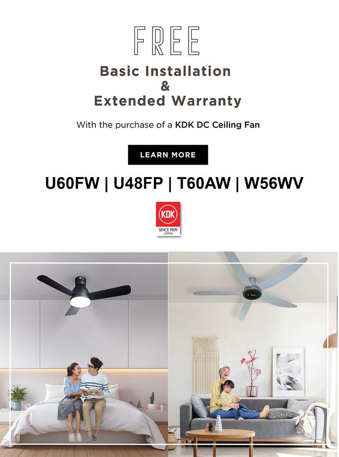 KDK Ceiling Fan free install
