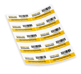 10 x Serial-numbered warning labels