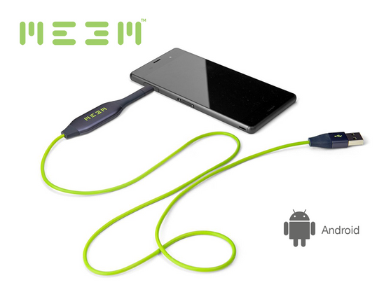 MEEM Memory for Android (32GB, 64GB, 128GB options) - Automatic backup and charging cable in one device