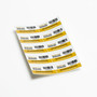 10 x Serial-numbered security warning labels