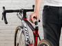 RFID shuttle being inserted into a bicycle seat tube