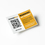 QR coded security warning label