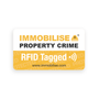 Immobilise RFID Tagged Warning Label to deter thieves (2 included in the pack)