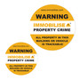 4 x Window decal stickers to deter theft  (38mm & 68mm diameters)