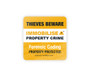 Anti theft warning window stickers