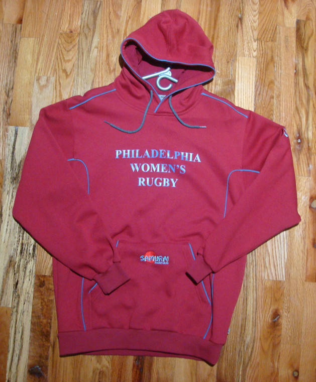 Samurai - Philadelphia Women's Rugby Hoodie  - MEDIUM