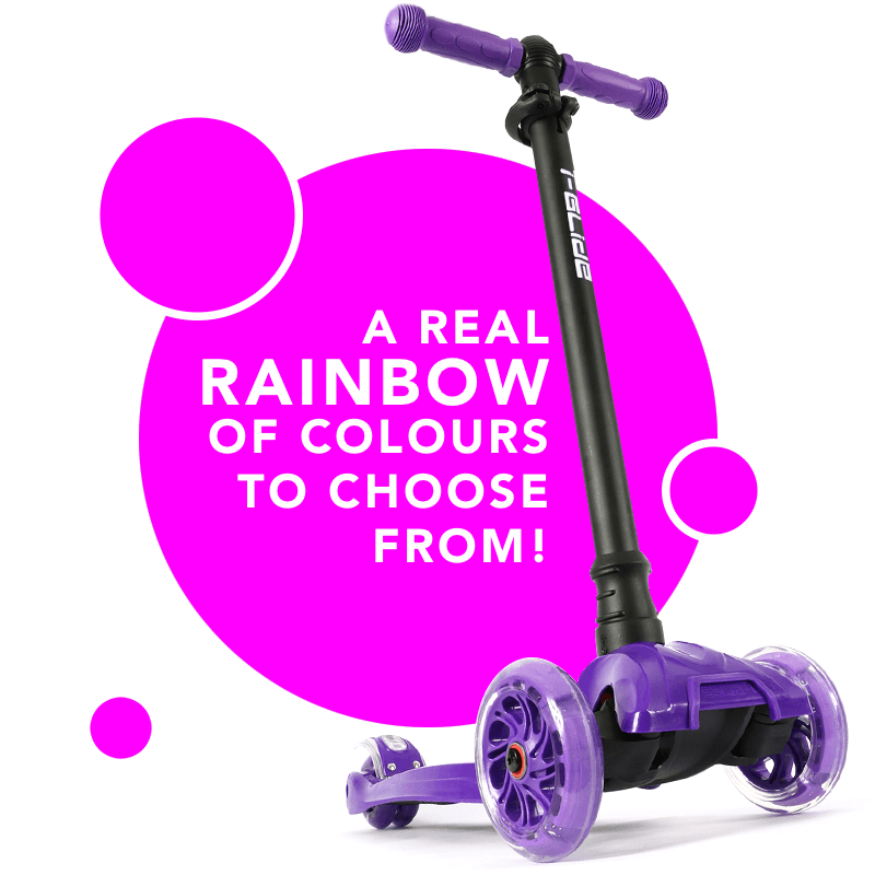 i-glide has a rainbow of colours to choose from