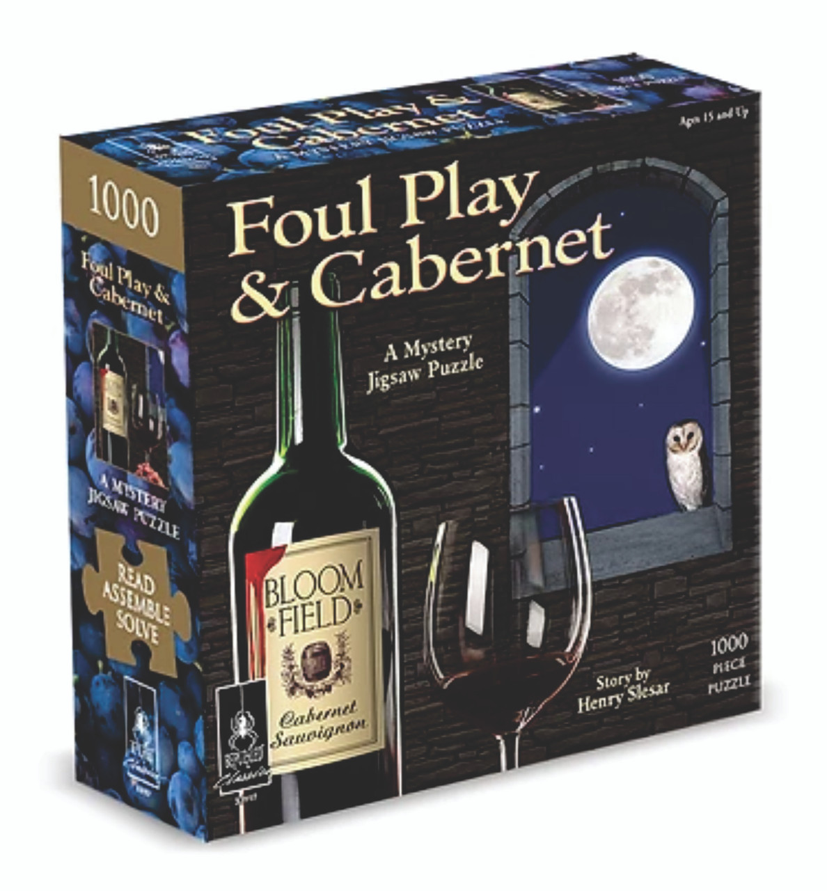 Classic Mystery Jigsaw Puzzle - Foul Play & Cabernet 1000 pieces