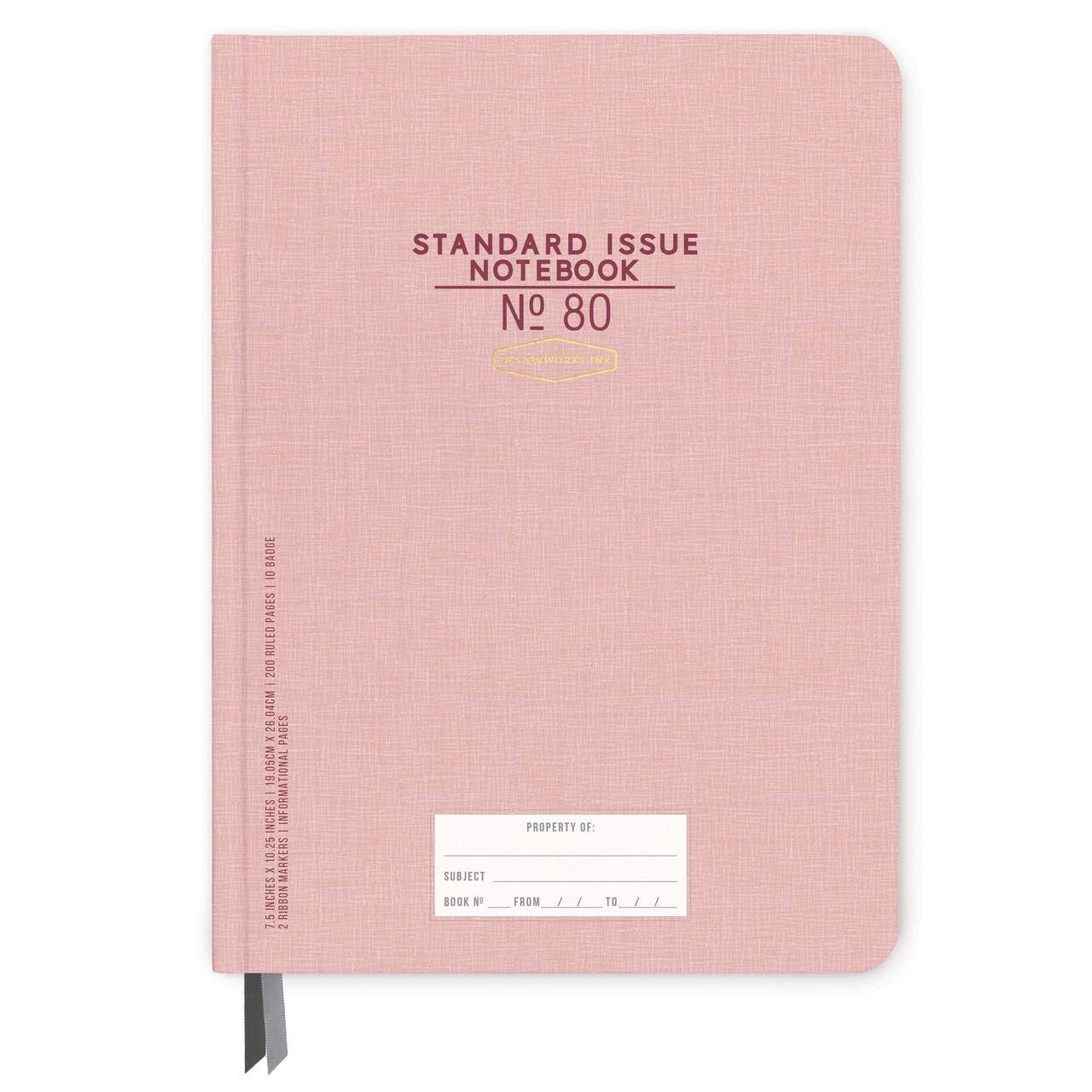 STANDARD ISSUE LARGE NOTEBOOK NO. 80   DUSTY PINK