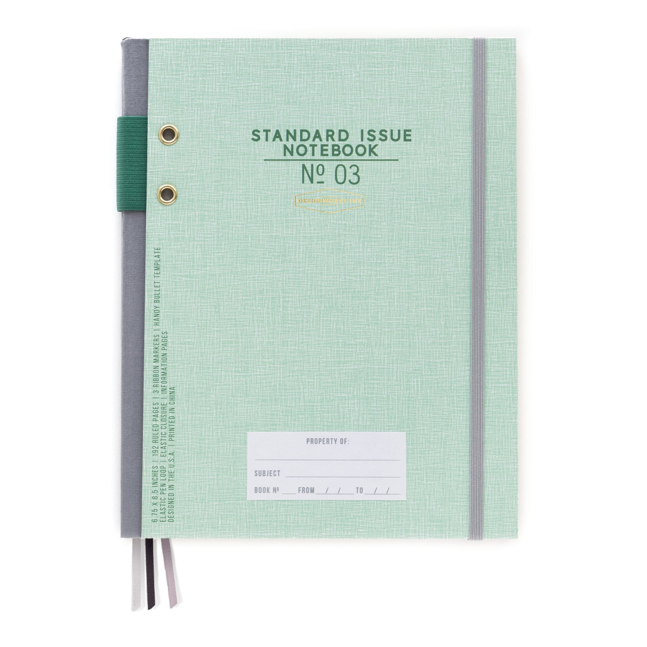 STANDARD ISSUE NOTEBOOK NO.3 | GREEN