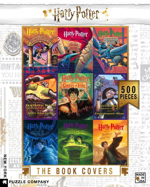 The Book Covers Collage  - 500 Pieces - Harry Potter
