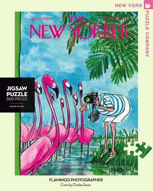 Flamingo Photographer  - 500 Pieces - New Yorker