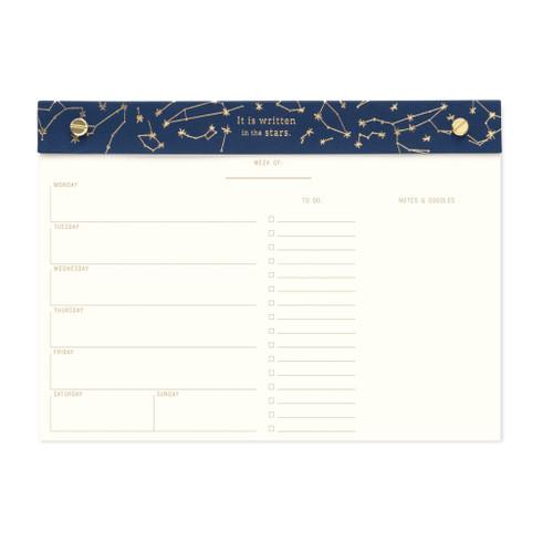 Weekly Desk Planner - Navy - Constellations