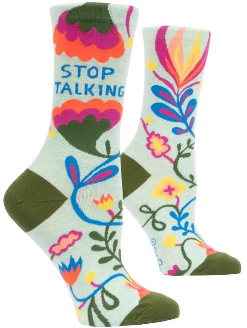 STOP TALKING - Women's Crew Socks