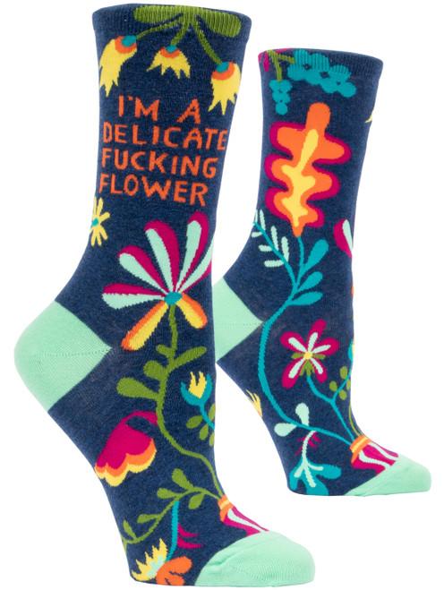 DELICATE FLOWER - Women's Crew Socks