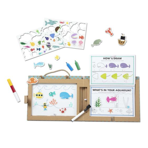 Play, Draw, Create Reusable Drawing & Magnet Kit - Oceans