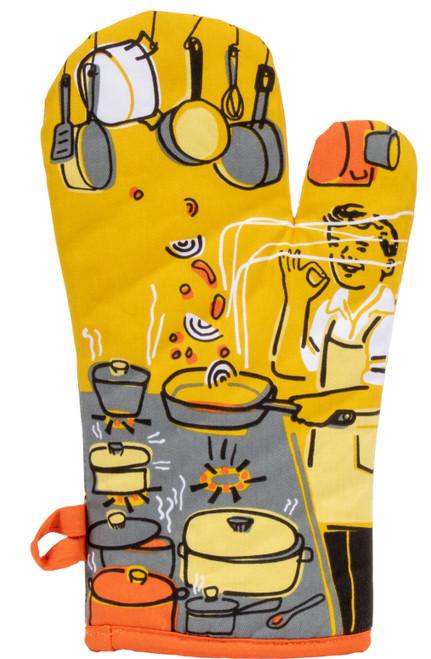 Man With a Pan - Oven Mitt