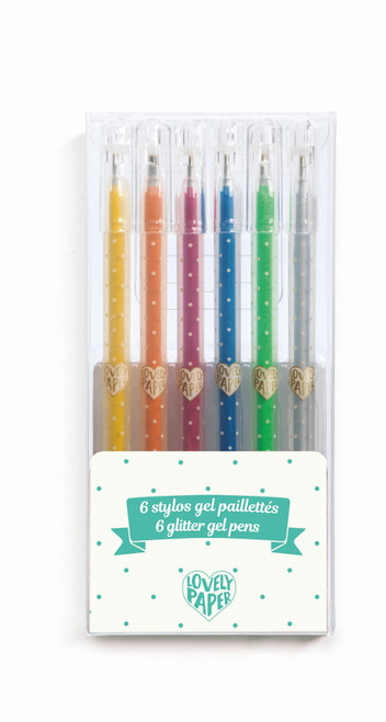 6 Glitter Gel Pens