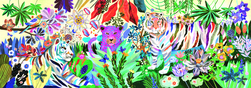 RAINBOW TIGERS - 1000 pc - Djeco