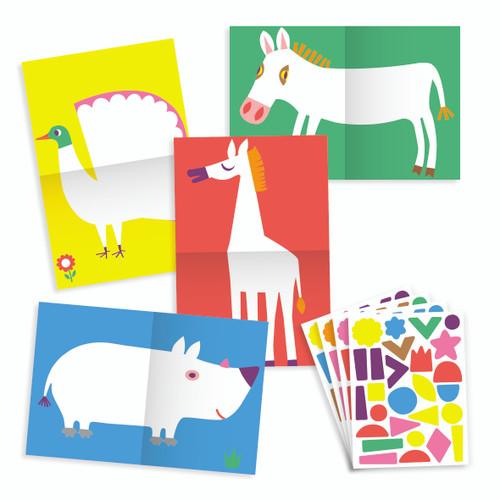 Large Animals Stickers