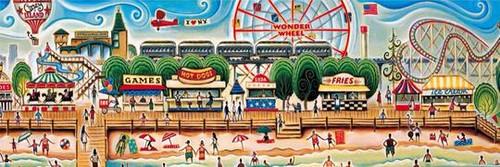 Coney Island - 1000 pieces  - Panoramic puzzle