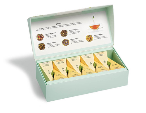 Lotus Petite Presentation Box of Organic Pyramid Tea Bags