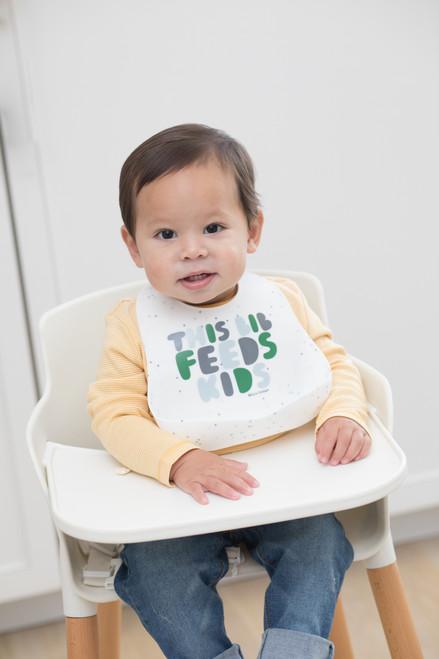 Wonder Bib - This Bib Feeds Kids Green