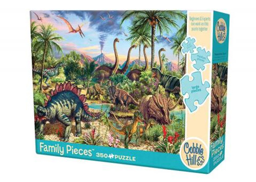 Prehistoric Party - 350 pieces - Family puzzle